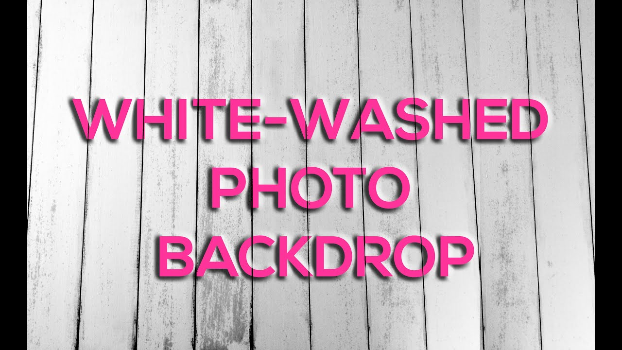 Paint Wash On Wood White Washed Wood Photography Board Backdrop Youtube