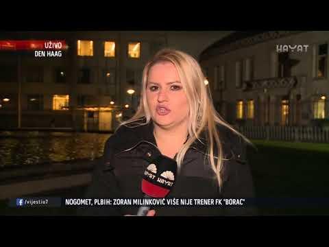 REPORTERI 'VIJESTI U 7' UŽIVO IZ HAAGA I SREBRENICE (22 11 2017)