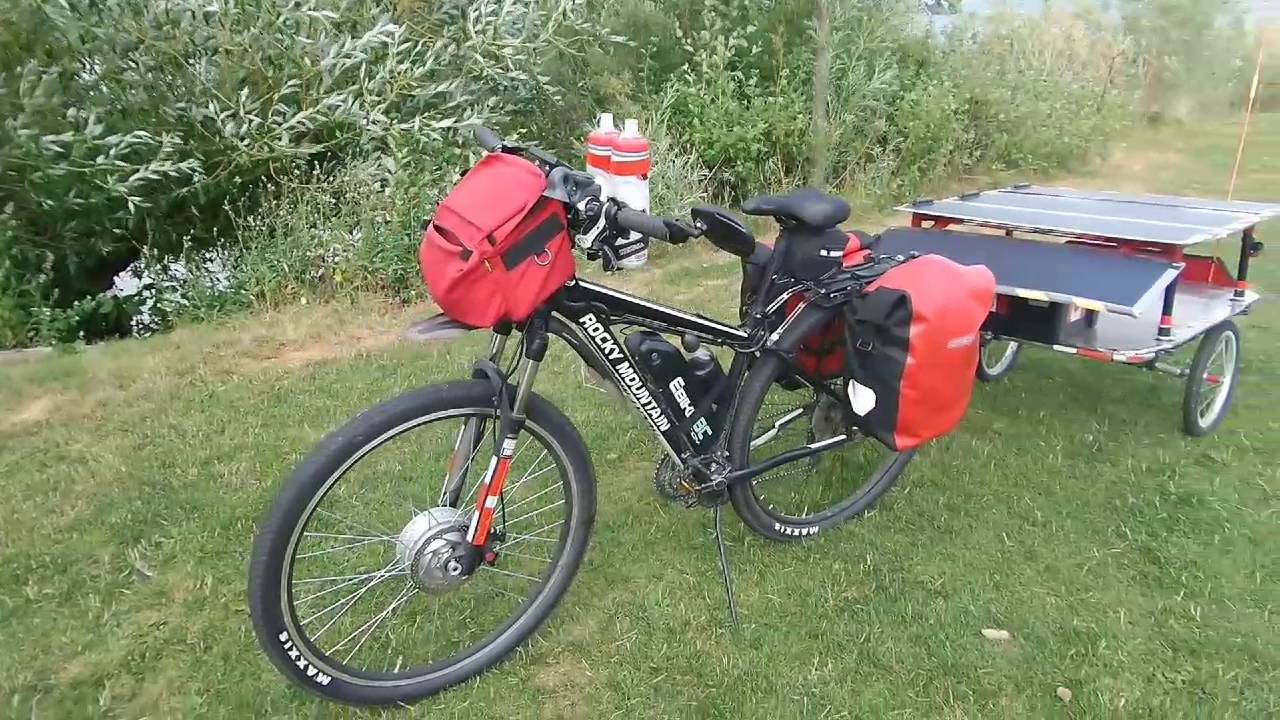 500 w solar powered touring e bike youtube. Black Bedroom Furniture Sets. Home Design Ideas