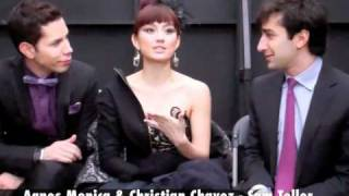 Agnes Monica and the Media at the American Music Awards 2010