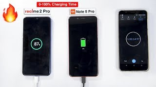 Realme 2 Pro vs Redmi Note 5 Pro Battery Charging Speedtest   0-100% Charging Time 🔥🔋