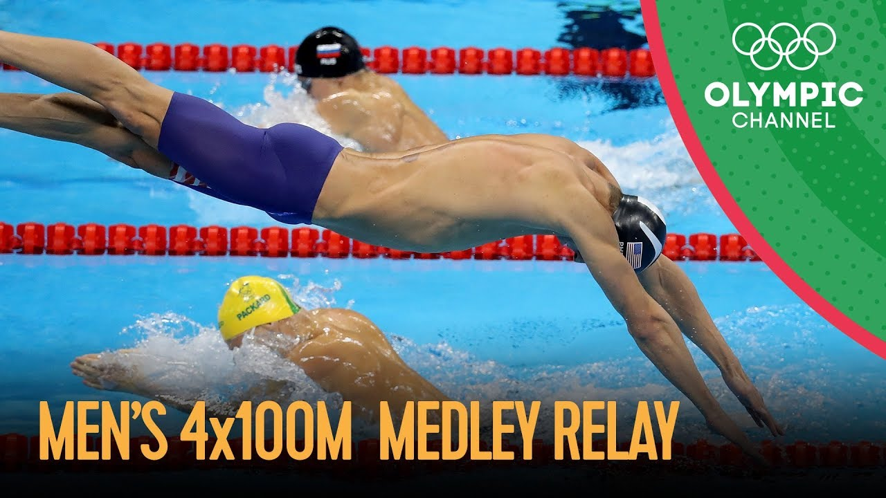 Michael Phelps Last Olympic Race - Swimming Men's 4x100m Medley Relay Final | Rio 2016 Replay image