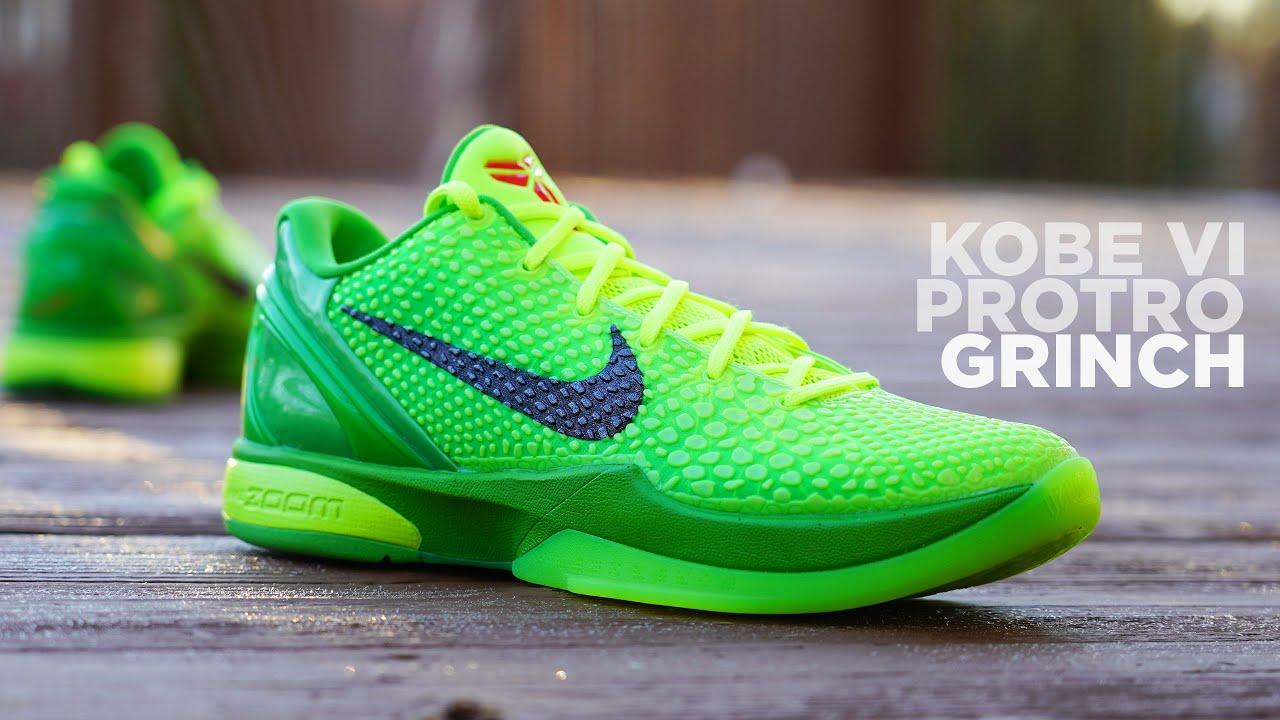 Nike KOBE 6 Protro GRINCH 2020 REVIEW & On Feet