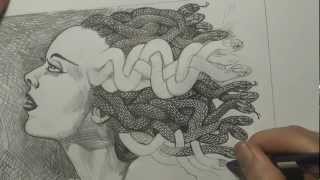 Bride of Frankenstein - Medusa drawing