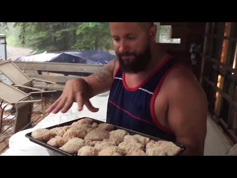 Fried chicken on the lake - we can BARELY hear you