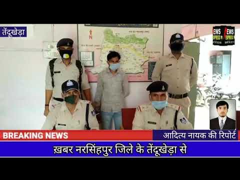 3 किलो अवैध गाँजा के साथ आरोपी गिरफ्तार, तेंदूखेड़ा पुलिस की बड़ी कार्यवाही