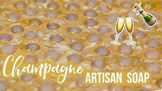 Champagne Custom Soap w/ Melt & Pour Bubbles | Royalty Soaps