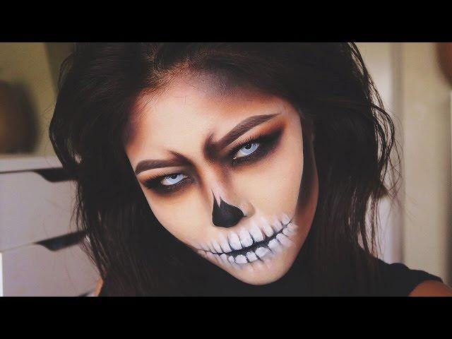 HALLOWEEN Skull Makeup Transformation/Tutorial | MARLA NYAMDORJ