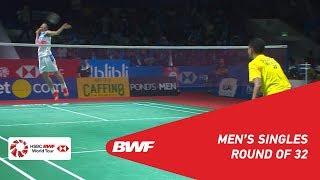 R32 | MS | Tommy SUGIARTO (INA) vs. CHEN Long (CHN) [5] | BWF 2019