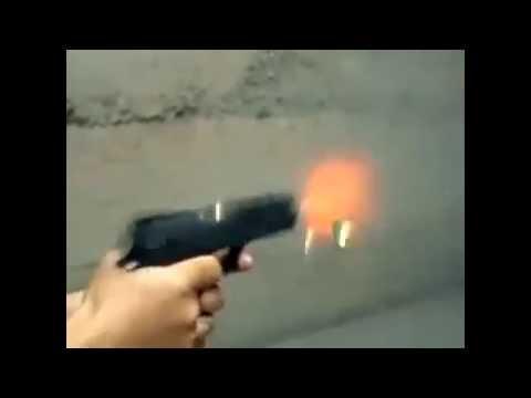 Pistola atira igual metralhadora