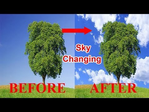 How To Change Sky Background In Photoshop Cc 2019    Tech Bangla IT.
