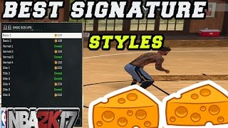 NBA 2K17 BEST SIGNATURE MOVES!!! Crossover+Dribble Combo Cheese