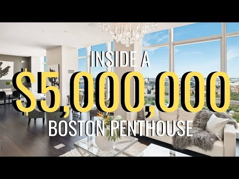 INSIDE A $5,000,000 BOSTON LUXURY PENTHOUSE | Molly J Curley