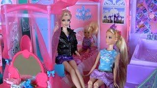 Видео с куклами Барби, серия 481,  Комната Челси, Барби обещает помочь Рапунцель с платьем на бал