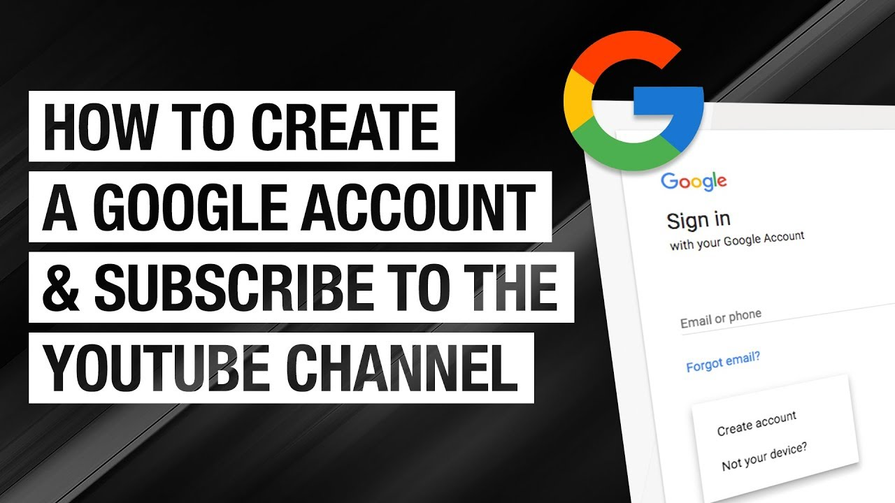 How To Create A Google Account And Subscribe To A Youtube Channel Youtube