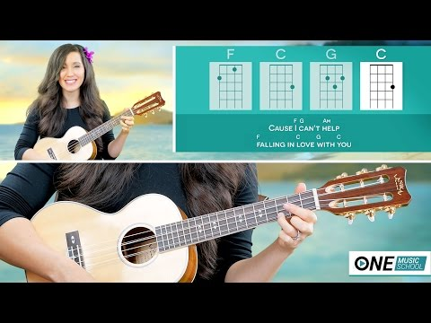 How To Play Can't Help Falling In Love -  Ukulele Lesson (Elivs Presley | Twenty One Pilots)