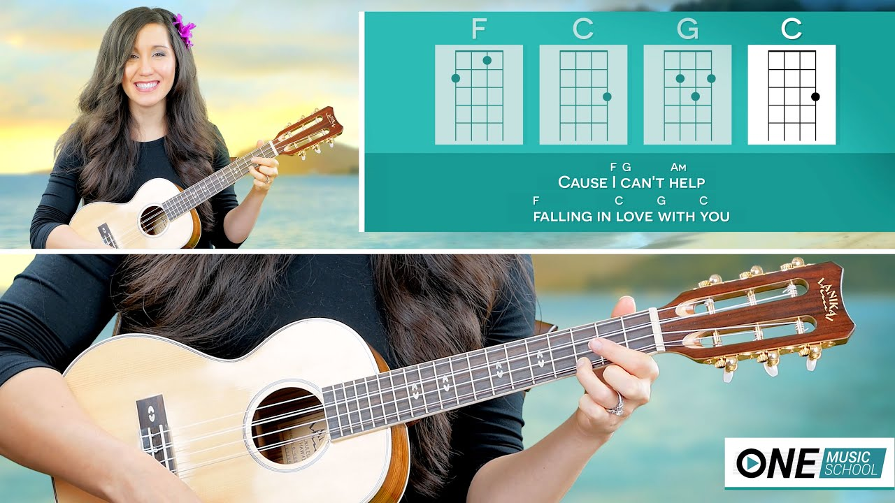 How To Play Cant Help Falling In Love Ukulele Lesson Elivs
