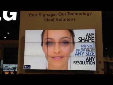 קיר וידאו של חברת YCD בתערוכת DSE