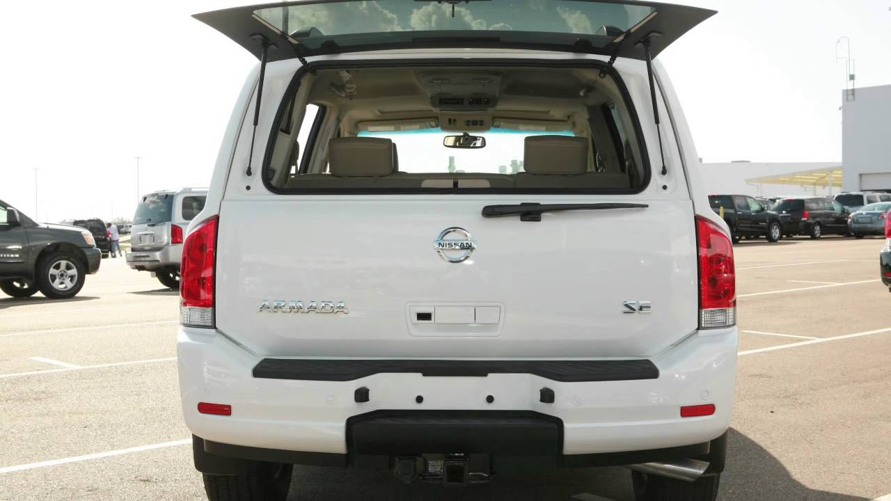 2013 nissan armada rear glass hatch youtube vanachro Images