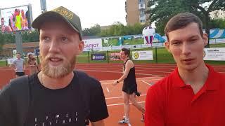 Данила Кисляков серебряный призер 400 м  и его тренер Александр Селезнёв