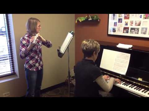 Adult flute student at Music2Master.com