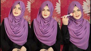 Chest Covering Chiffon Hijab Style with Burqa | EP- 3(Chiffon Freak) | MUNA