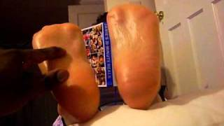 oily ticklish  milf soles
