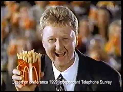 Larry Bird Lures In Grant Hill With French Fries 2000 Youtube