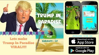 Trump Running Funny on Trump in Paradise game