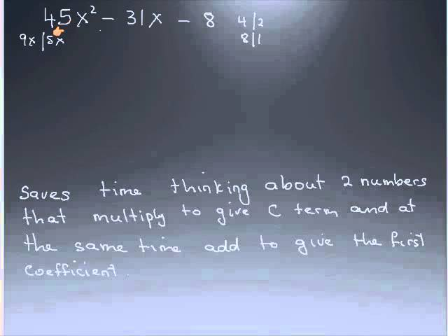 QuadraticEqiationfactoring