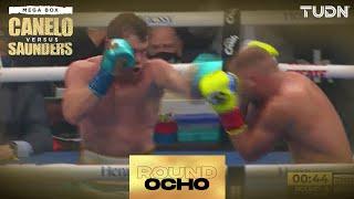Round 8: Canelo le conectó de todo a Saunders y lo dejó listo para K.O   'Canelo' vs Saunders   TUDN