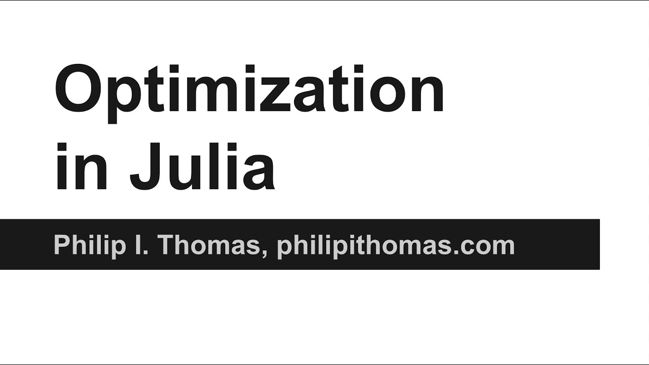 Video - Optimization in Julia - OpenDNS Umbrella Blog