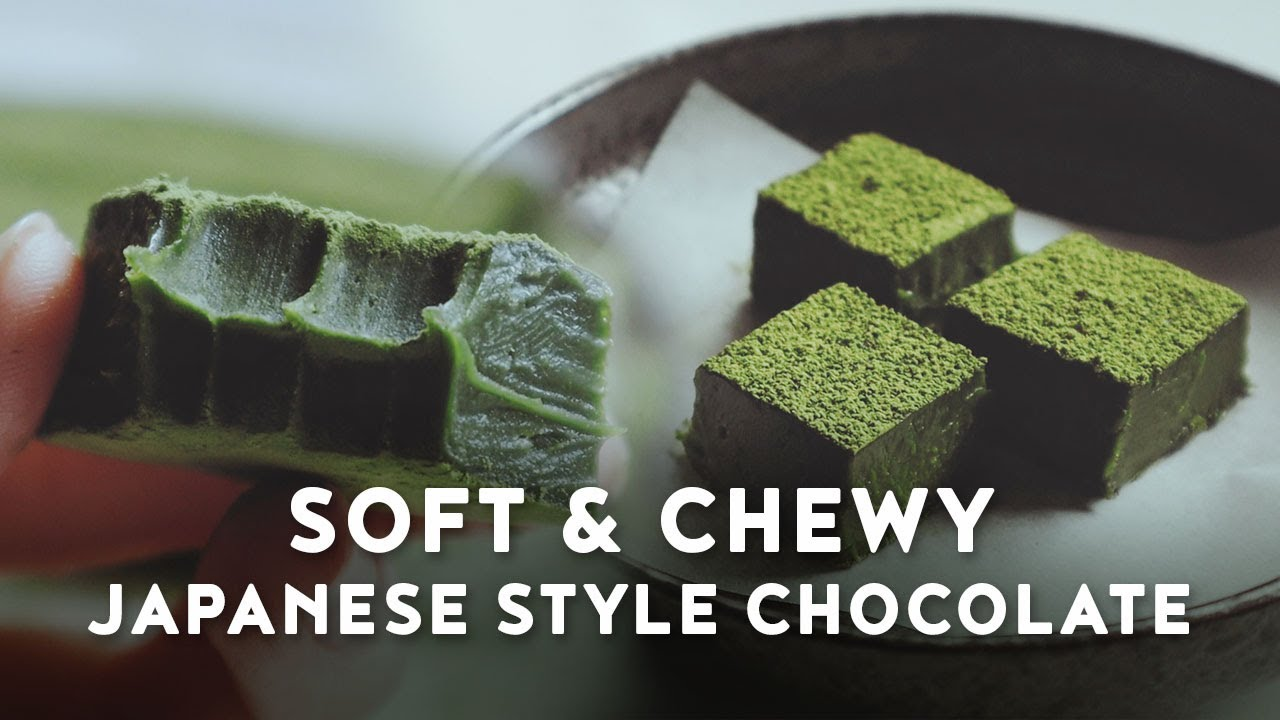 Smooth Fudgey Nama Chocolate - 2 ways | No Oven | Matcha and Dark Chocolate | 生チョコレート