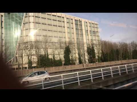 Zuidas Amsterdam 27 januari 2018 gefilmd uit metro 51