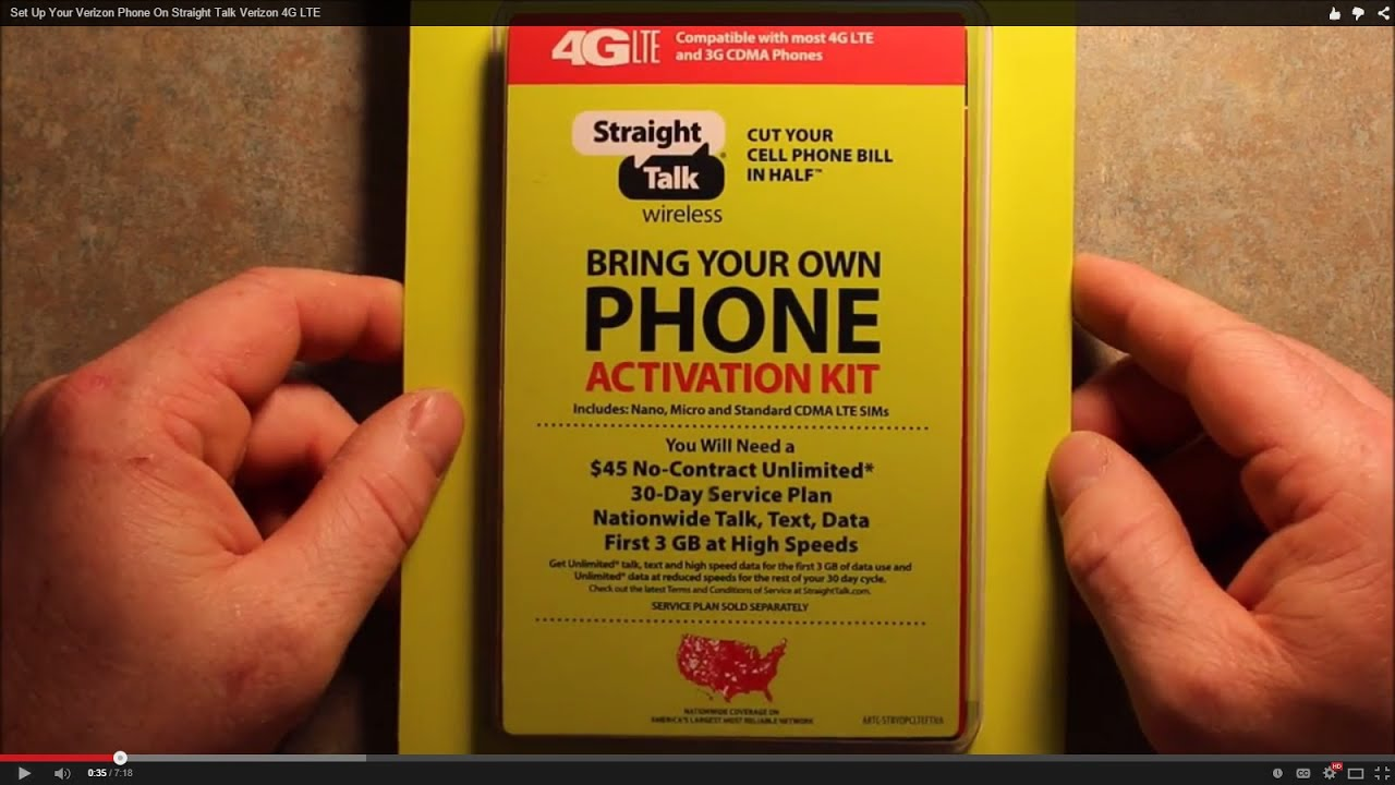 Set Up Your Verizon Phone On Straight Talk Verizon LTE