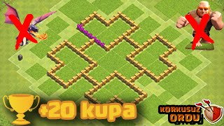 Clash of Clans 6  Seviye Köy Düzeni Ganimet ve Kupa Anti ejder ve dev  th 6 düzen