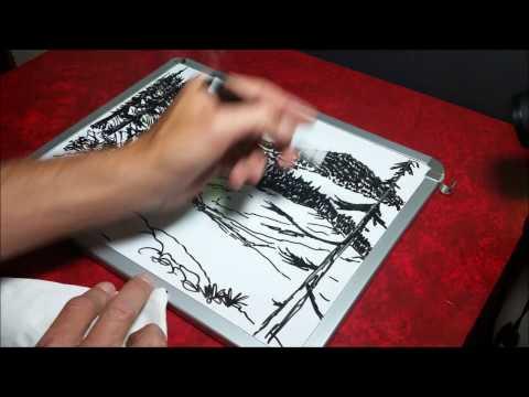 Dry Erase Whiteboard Art - Siskiyou Mountains - Mr Ed Draws
