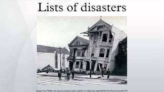 Lists of disasters