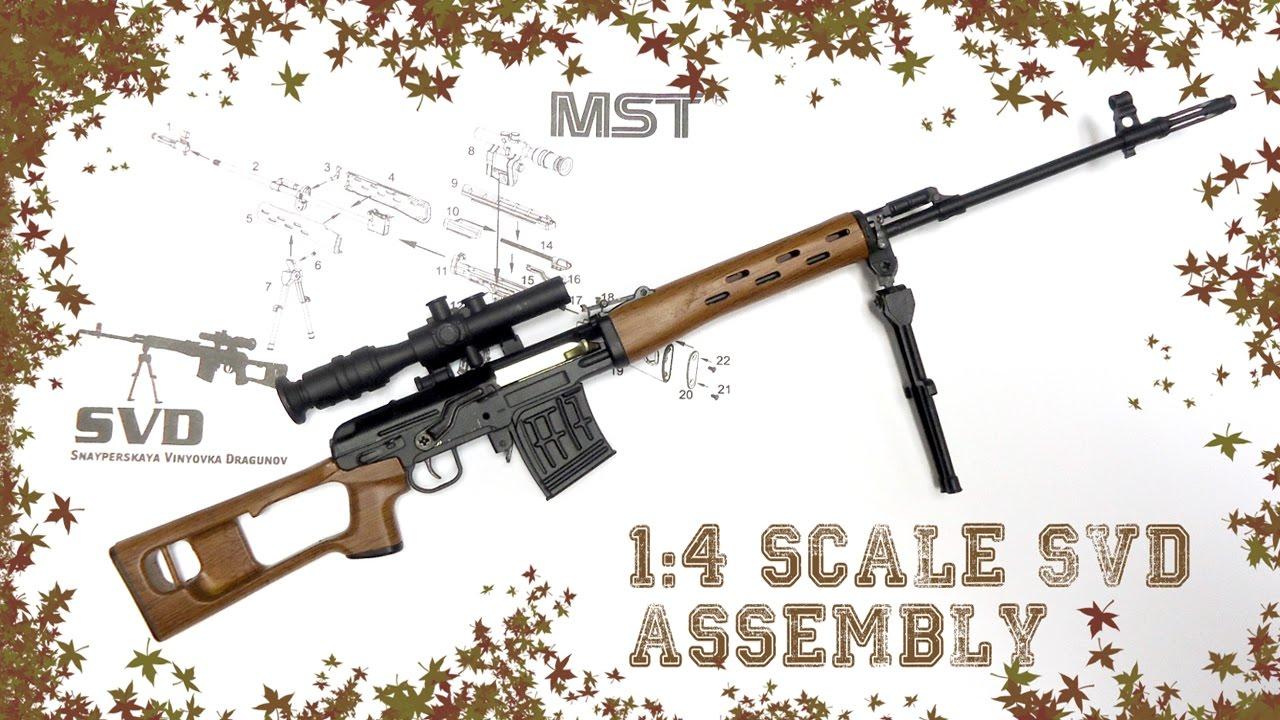"Download Assembling 1/4 Scale SVD Dragunov Sniper Rifle   Diecast ""Kit"" Review"