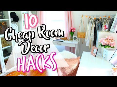 10 Cheap LIFE HACKS to decorate your room! | Belinda Selene