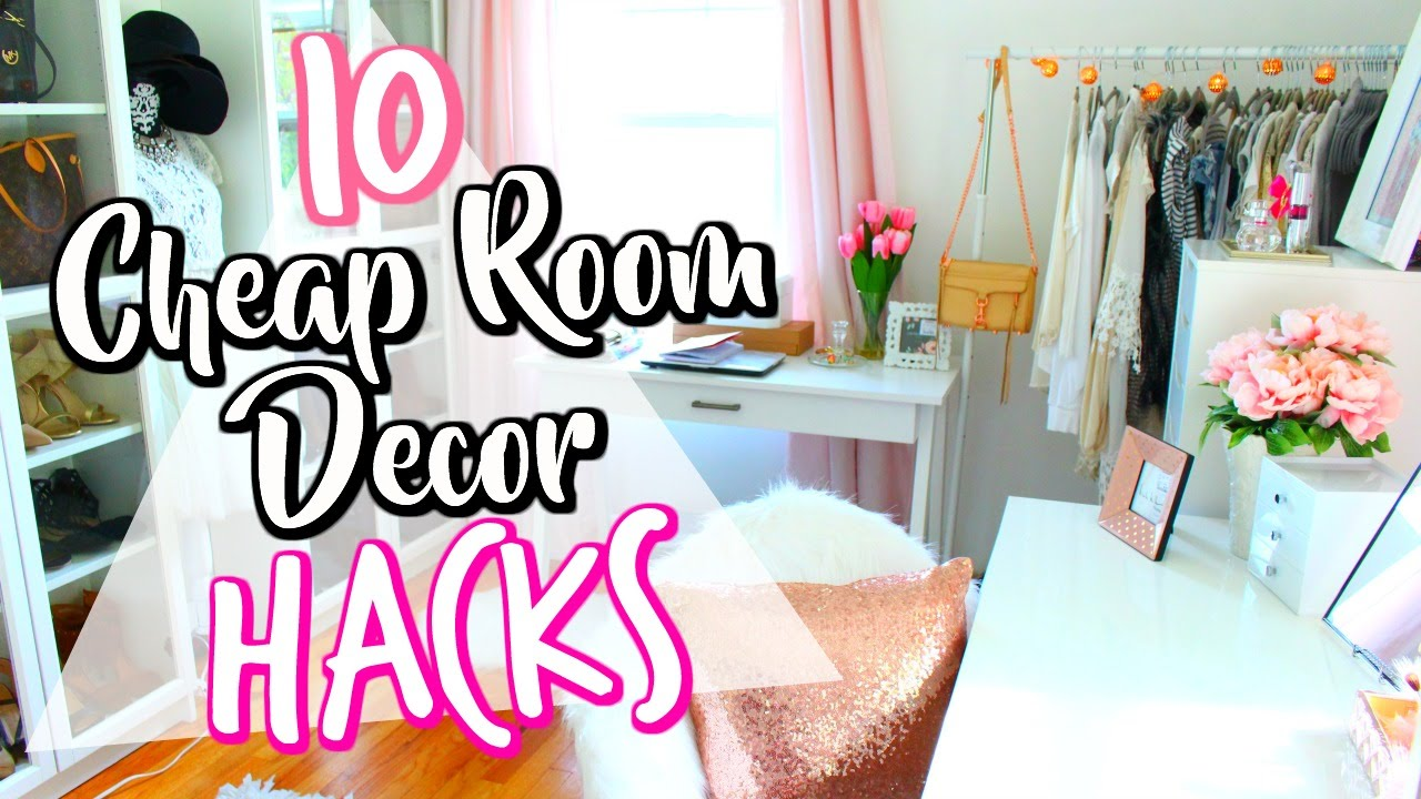10 Cheap LIFE HACKS To Decorate Your Room!