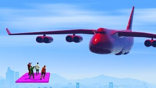 GIGANTIC PLANE VS SNIPERS! (GTA 5 Funny Moments)