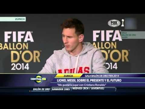 Messi: 'Me gustaría jugar con Cristiano'