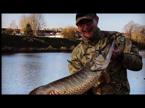 River Pike Fishing With Single Hooks