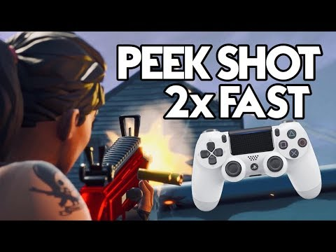 Ghost Peek Shot 2x Faster On Controller! (Crouch Bind Tip For PS4/XBOX Fortnite)