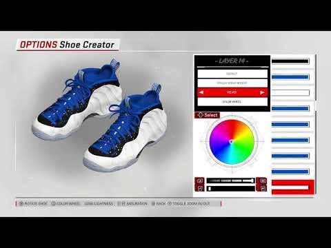 "NBA 2K18 Shoe Creator - Nike Foamposite One ""Shooting Stars"""