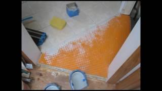 "Ceramic Tile Kitchen Floor Installed On ""schluter Ditra"""