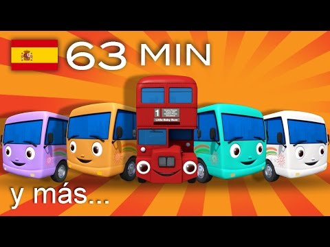 Diez autobuses  Y muchas más canciones infantiles  ¡63 min de LittleBaBum!