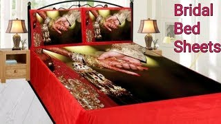 Most beautiful expensive bridal bed sheets design/Wedding bed sheet designs/Wedding bedsheet set