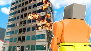 TOWER FIRE SURVIVAL! - Brick Rigs Multiplayer Gameplay - Lego Fire Survival